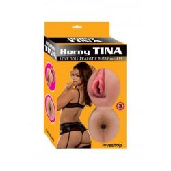 [949]Horny Tina Realistik Vajinalı Şişme Bebek