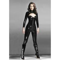 [987]Deri Full Body Fermuarlı Seksi Elbise