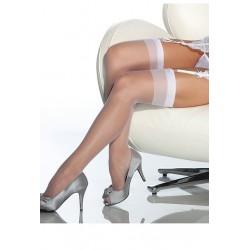[1032]Beyaz Dantelsiz Jartiyer Çorabı