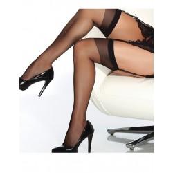 [1033]Siyah Dantelsiz Jartiyer Çorabı