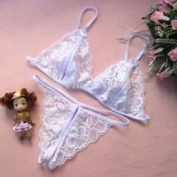 (T711) Beyaz Dantelli Fantazi İç Giyim